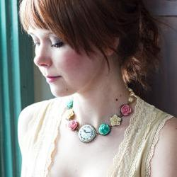 Shabby Rose Garden Necklace - Featured in Belle Armoire Summer 2011 Sold Out